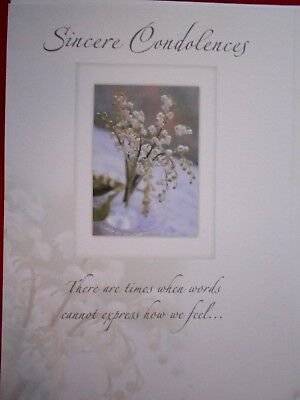 Discount Greeting Cards (Sympathy / Sincere Condolences~greeting card ~  free p&p ~  extra card)
