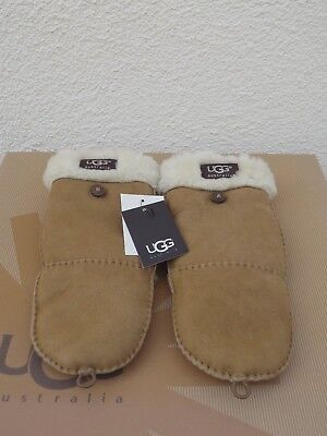 UGG FLIP MITT CHESTNUT SUEDE/ SHEARLING WINTER MITTENS ~WOMENS L/XL ~NWT, used for sale  Ventura