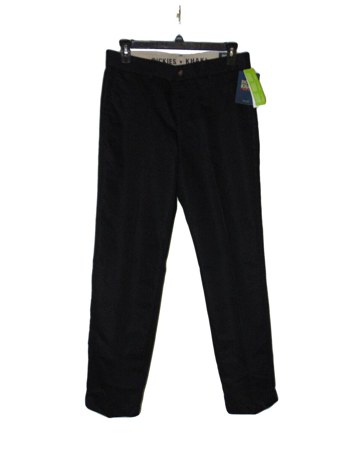 Work Pants 34 X 32 Dickies Black Khaki  Regular Fit Tapered