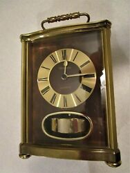 MANTLE CLOCK - VERSAILLES QUARTZ PENDULUM - SOLID BRASS - WORKS
