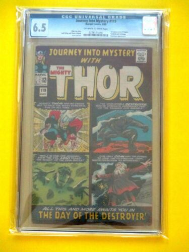 Journey Into Mystery #119 - CGC 6.5 - 2nd Destroyer / 1st Fandrall & Volstagg