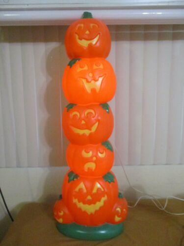 "Vintage Halloween Pumpkins Lighted Blow Mold Lawn Decor 38""  -7 DIFFERENT FACES-"