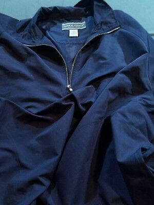 Page & Tuttle Golf Wind Pullover Large Blue 1/4 Zip with removable sleeves