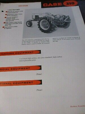 Case 210 620 Sub-soiler Salesspecifications Brochures 2 Items
