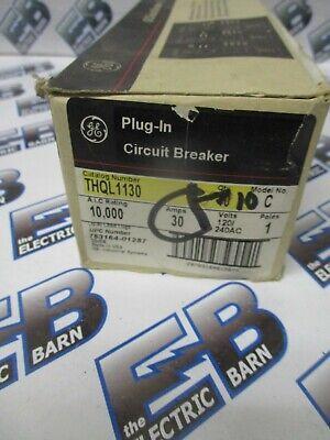 Ge Thql1130 30 Amp 1 Pole 120 Volt Circuit Breaker- New Box Of 10