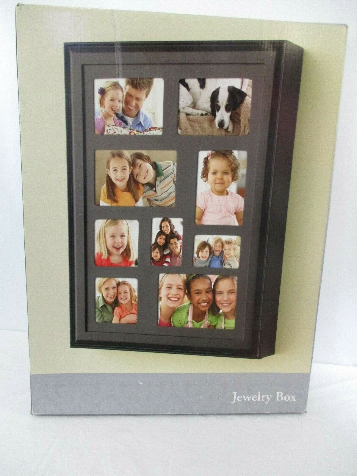 Large Wooden Photo Collage Jewelry Box New In Box