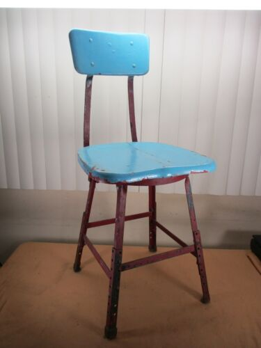 Vintage Industrial WESTERN ELECTRIC Factory Stool Chair Machine Age  cir. 1940