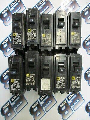 Square D Hom120 1 Lot Of 10 20 Amp 120 Volt 1p Circuit Breaker -warranty