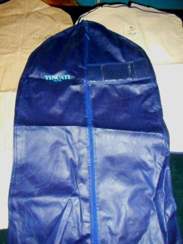 "USA Tincati Milano Garment Bag 23"" x 44"" x 3"" Zip Carry Handles Blue m/i Italy"