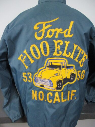 Vtg Ford f100 Elite Car Club Jacket