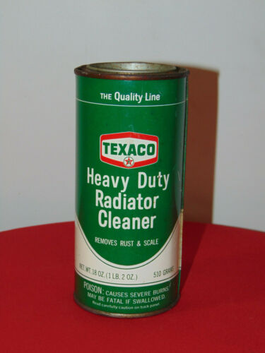 VINTAGE TEXACO HEAVY DUTY RADIATOR CLEANER REMOVES RUST & SCALES FULL UNOPENED