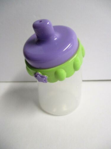 Hasbro Baby Alive Doll Replacement Magnetic Bottle Purple & Green