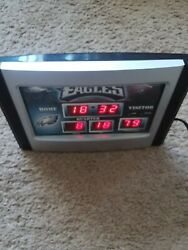 Philadelphia Eagles Scoreboard ELECTRIC DESK Clock - USED