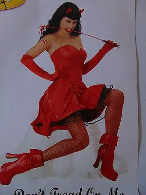 Sexy Bettie Page Devil Costume