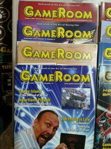 Game Room Magazine -   Various years 2006, 2007, 2008...15 magazines.