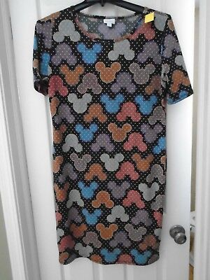 LuLaROE WOMANS 2XL - MICKEY MOUSE HEADS -  SHORT SLEEVE DRESS MULTI COLOR-NEW](Mickey Mouse Dress For Women)
