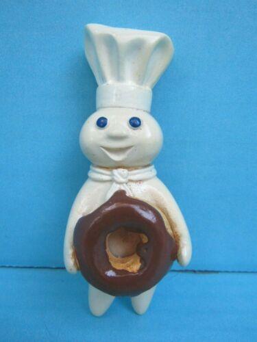 2004 Pillsbury Doughboy Holding Chocolate Donut Ceramic Magnet by Simson FSHIP!