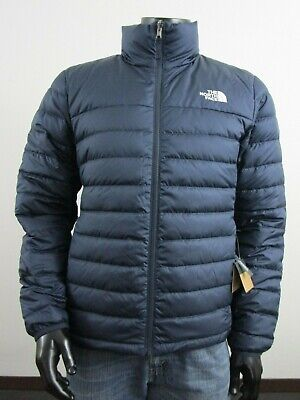 Mens TNF The North Face Flare 550-Down Insulated FZ Puffer Jacket - Navy Matte