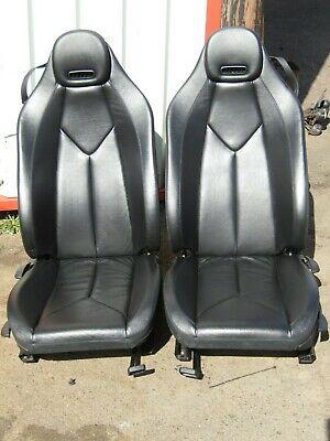 BLACK LEATHER SEATS MERCEDES SLK R171 200 MANUAL CONTROLS CAMPER VAN KIT CAR