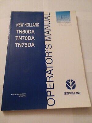 New Holland Tn60da Tn70da Tn75da Tractor Operators Manual Nh Original