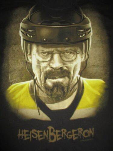 BREAKING BAD Heisenbergeron (XL) T-Shirt Bryan Cranston PATRICE BERGERON Bruins