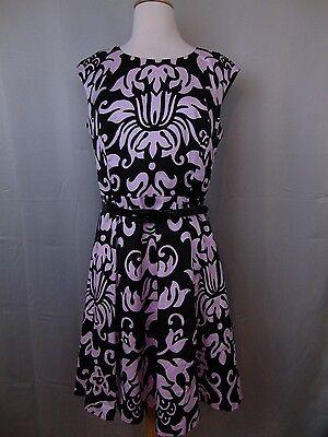 INC International Concepts Sleeveless Printed Belted Sheath Dress Size 10 #294 Printed Belted Sheath Dress