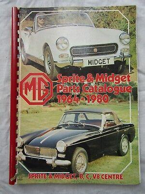 MG SPRITE MIDGET PARTS CATALOGUE 1964 1980