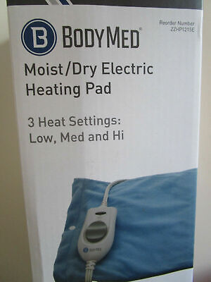ELECTRIC HEATING PAD BODY MED MOIST-DRY Washable Cover, 3 HEAT Settings