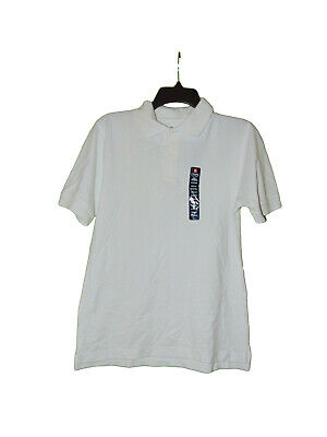 Chaps White School Uniform Polo Shirt Large 14-16 Boys New
