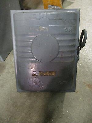Ge Tc60361 30 Amp 600 Volt Vintage Fusible Disconnect Model 1