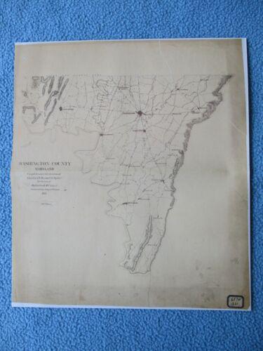 # Civil War Map - Washington County, Maryland 1861, Sharpsburg, Hagerstown ...