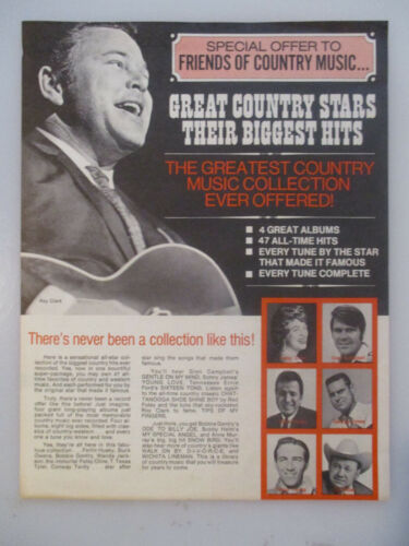 Great Country Stars Their Biggest Hits Roy Clark Others AD Advertisement