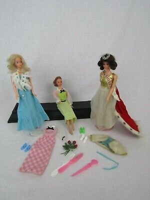 VTG TNT Deluxe Quick Curl Barbie Kelly Steffie Miss America Walk Lively Doll