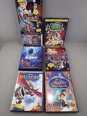 Lot Of 6 Classic And New Disney Dvd Movies Dory Aladdin Dumbo Cinderella Alice