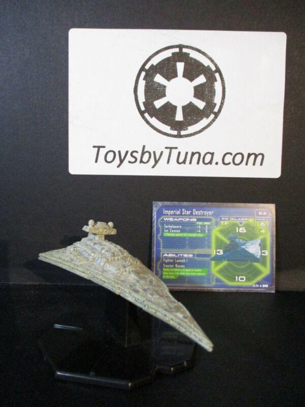 Star Wars Miniatures Starship Battles Imperial Star Destroyer w/ Card mini RPG