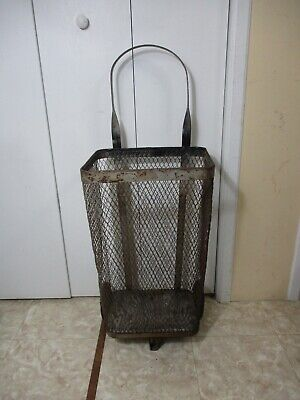 Vintage Metal Grocery Store Or Market Rolling Cart Caddy Cage Cir. 1940s