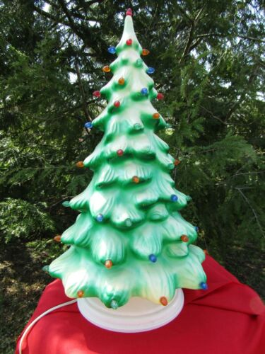 """1950s Union Products Electrified Blow Mold 21"""" Christmas Tree"""