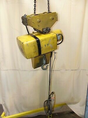 Industrial Yale Electric Chain Hoist 12 Ton With Trolley