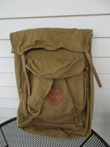 Vintage Official BSA No 1329 Deluxe Yucca Canvas Backpack Boy Scouts of America