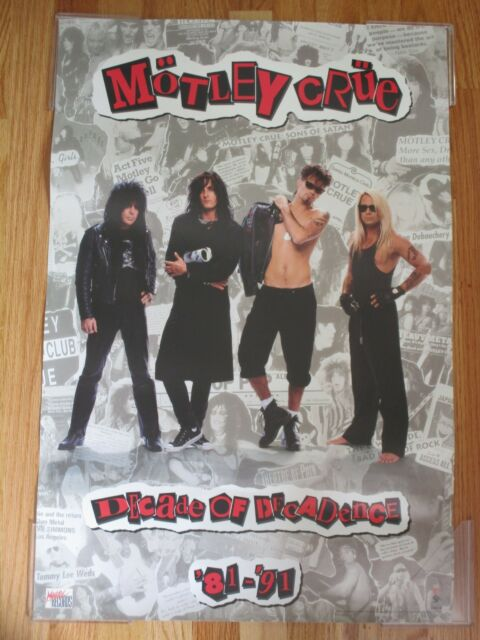 MOTLEY CRUE Decade of DECADENCE Poster MICK MARS Nikki Sixx TOMMY LEE Vince Neil