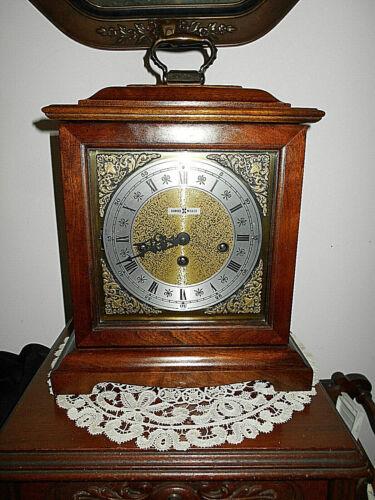 VTG HOWARD MILLER MANTEL CLOCK WESTMINSTER CHIME~KEY WIND~MODEL#612-437