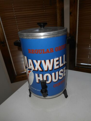 VINTAGE Maxwell House Coffee Pot Maker 30 Cup Metal Percolator West Bend 1970