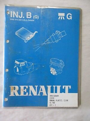 RENAULT INJ B BOSCH MULTI-POINT FUEL INJECTION SYSTEMS SERVICE MANUAL CR 1985