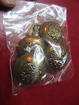 Кнопки Antique Brass Buttons X 5