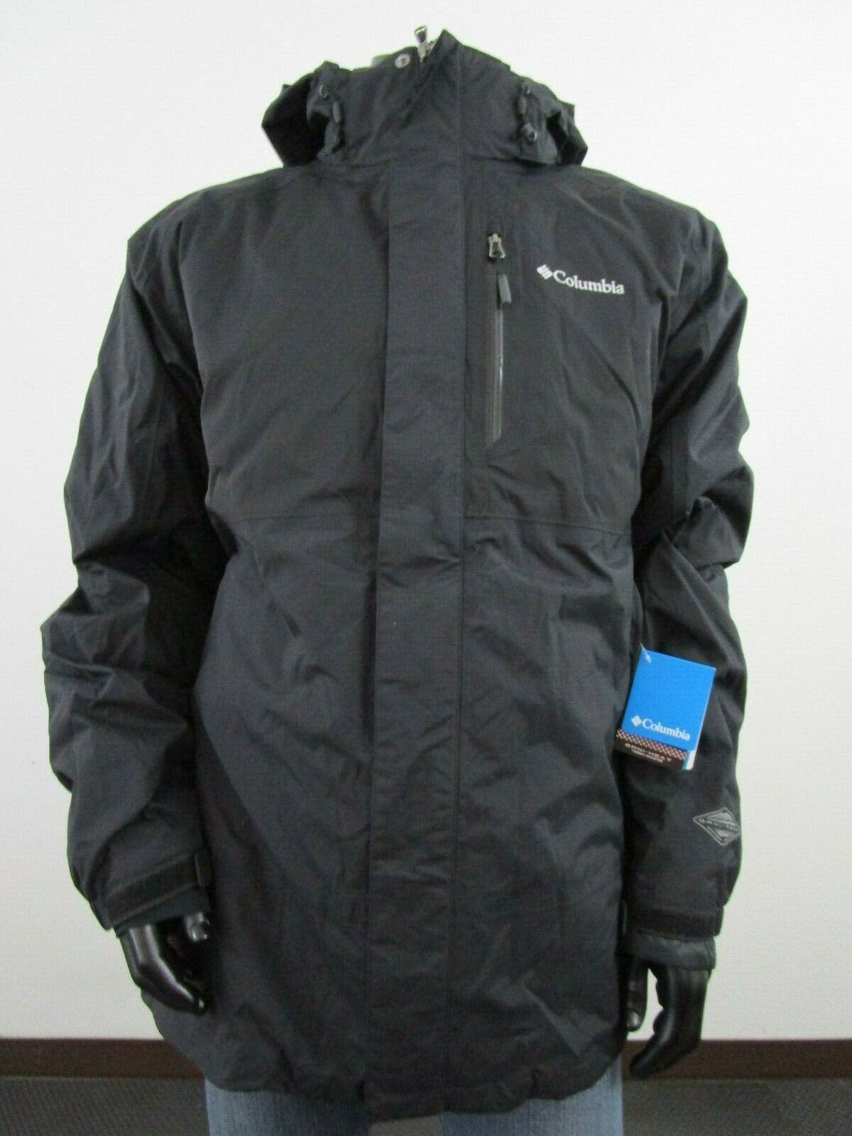 Green Mens Columbia Rural Mountain Interchange 3 in 1 Hooded Insulated Jacket