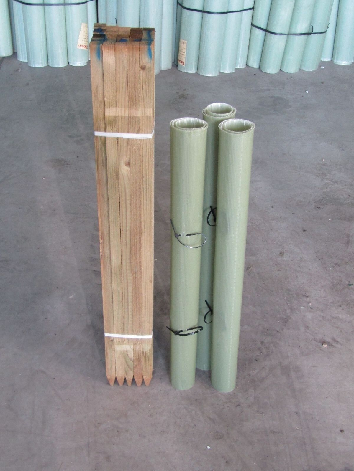 Tree Shelter Protection Guards Tubex Rabbit Deer Tubes Pack of 50 4ft 1.2m