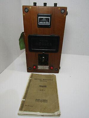 Old Vintage James G. Biddle Megger 33 5011 Electrical Instrument Testing Set