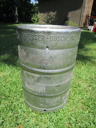 ANHEUSER BUSCH Stainless Steel 15.5 GALLON BEER KEG Brewing Rat Rod Tank
