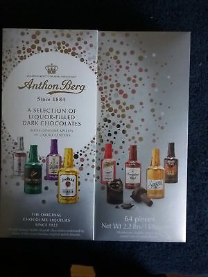 2.2lb Anthon Berg Dark Chocolate Liqueurs Original Spirits 64 Pcs Gift 074540891