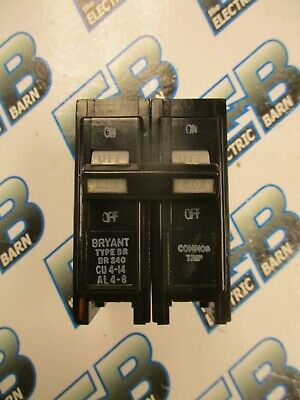 Bryant Br240 40 Amp 2 Pole 240 Volt Circuit Breaker- Warranty